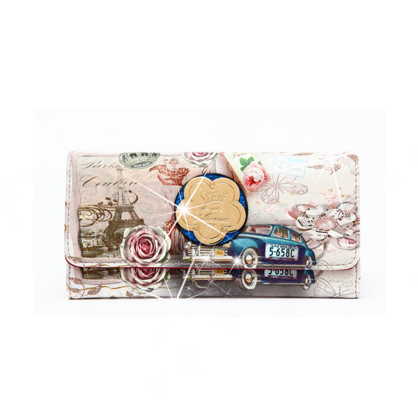 Center Stage Vintage Fashion Wallet for Women - Brangio Italy Co.