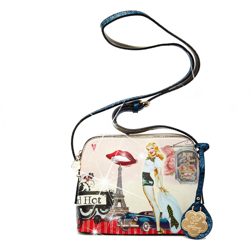 Retro Rebel Satchel Graphic Crossbody - Brangio Italy Co.