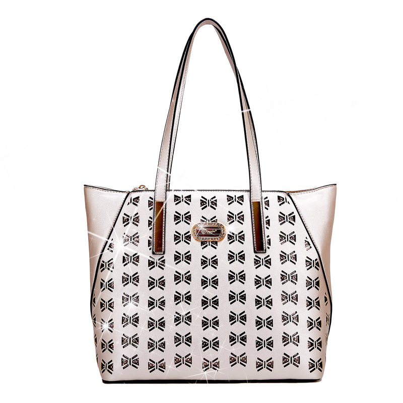 Butterfly Twinkle Star Luxury Leather Designer Tote Bag - Brangio Italy Collections