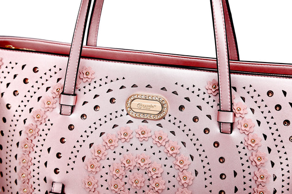 Rosè Celestial Star Tote Designer Handbags for Women Crystal Handbag - Brangio Italy Collections