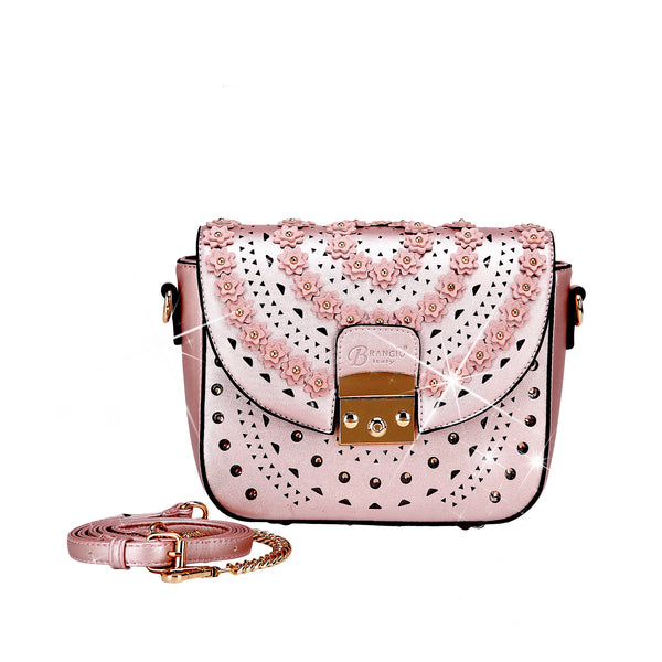 Rosè Celestial Star Crossbody Crystal Satchel - Brangio Italy Co.