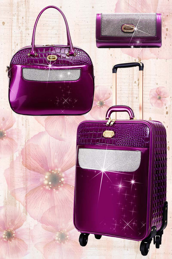 Sleek & Steady 2PC Set | Signature Away Luggage Set for Travel with Crossbody Bag - Brangio Italy Co.