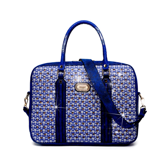 Galaxy Crystal Designer Laptop Bag for Women Office Work Bag - Brangio Italy Co.