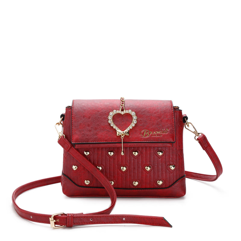 Hearts Handmade Cross-body Fashion Satchel - Brangio Italy Co.