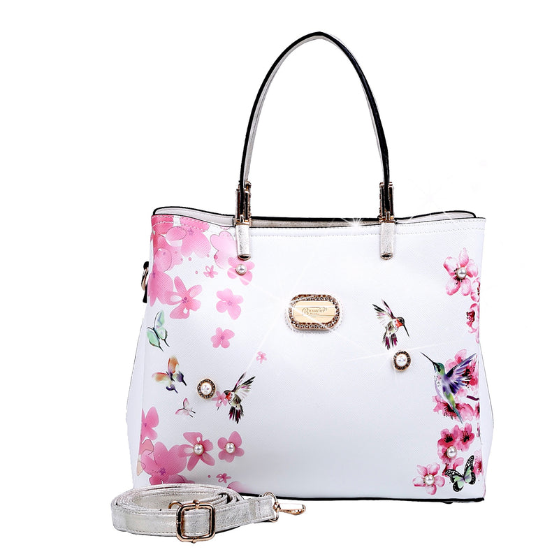 Hummingbird Women's Vintage Sugar Scratch & Stain Resistant Top-Handle Bag - Brangio Italy Co.