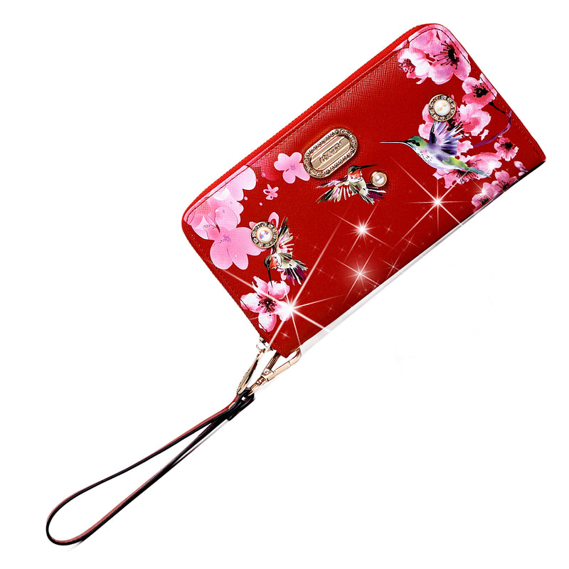 Hummingbird Vintage Wristlet Wallet for Women - Brangio Italy Co.