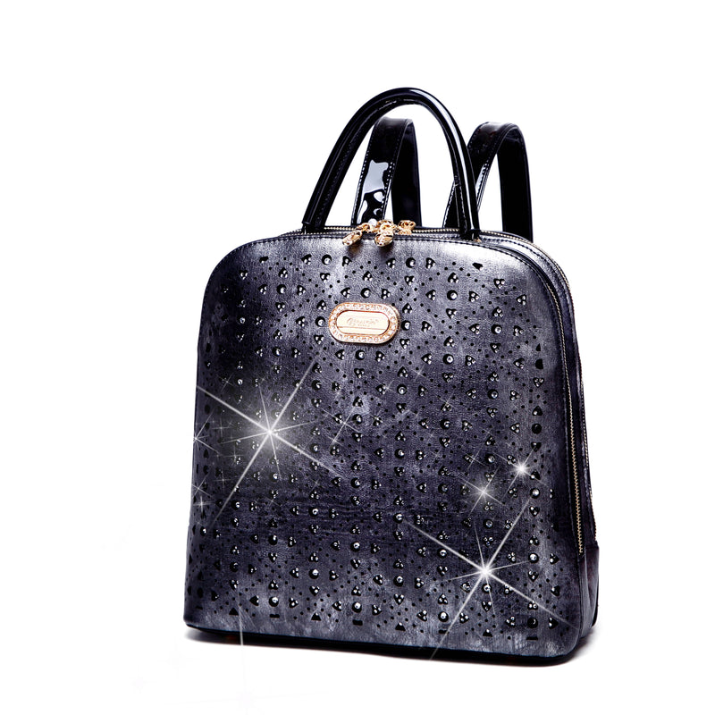 Sparkle of Hearts Backpack Bag for Women - Brangio Italy Collections