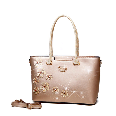 Twinkle Cosmos Florality Tote Purses and Handbags for Women