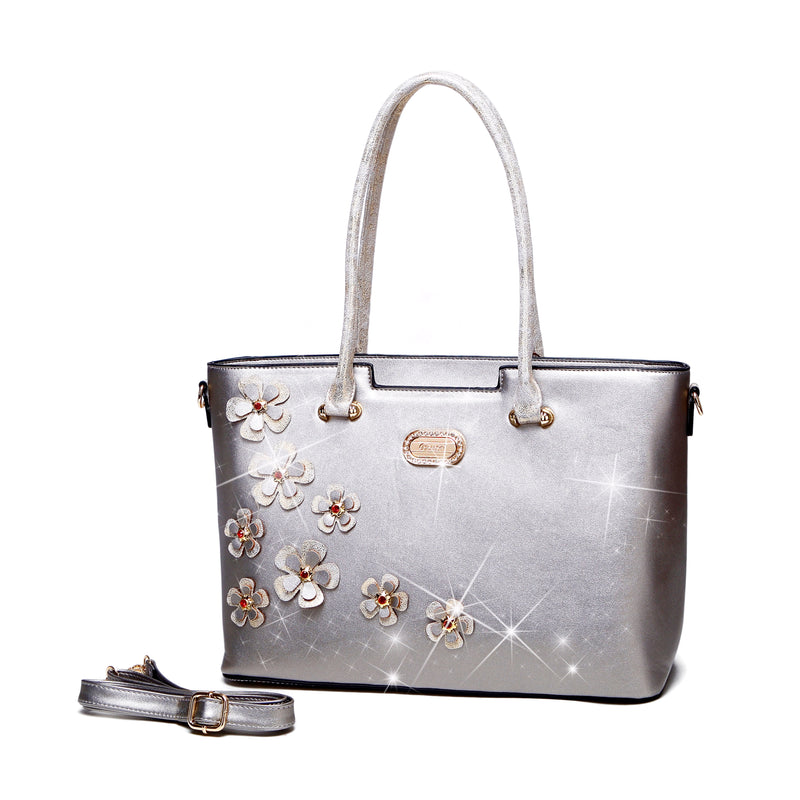 Twinkle Cosmos Florality Tote Purses and Handbags for Women - Brangio Italy Collections