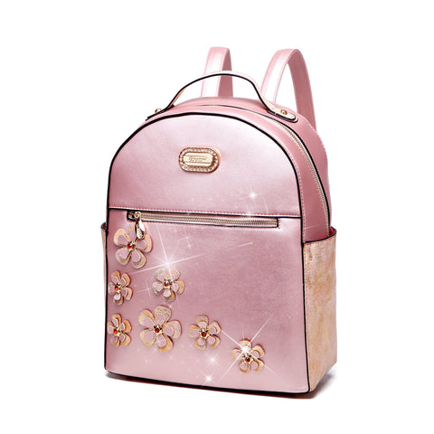 Handmade Twinkle Cosmos Floral Fashion Backpack or Women