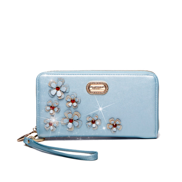 Twinkle Cosmos Florality Wristlet and Phone Holder Wallet - Brangio Italy Collections