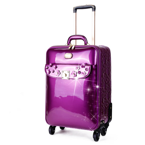 Floral Sparx Light Weight Spinner Luggage for the American Tourister