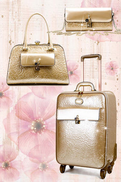 Rosy Lox 2.0 3PC Set | | Luggage For Women Rolling Suitcase Travel Bag - Brangio Italy Collections