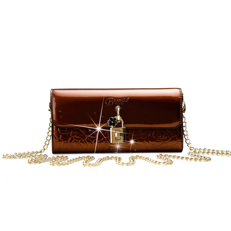 Rosy Lox Crossbody Women Wallet Clutch - Brangio Italy Collections
