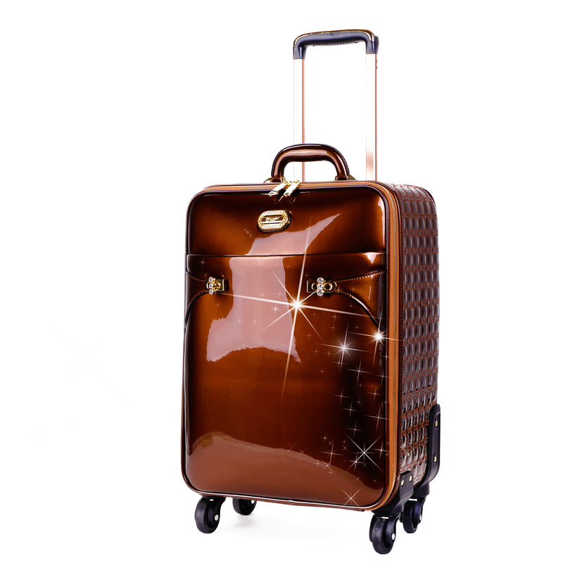 Tri-Star Durable Flexible Carry on Luggage with Spinning Wheels Suitcase - Brangio Italy Collections