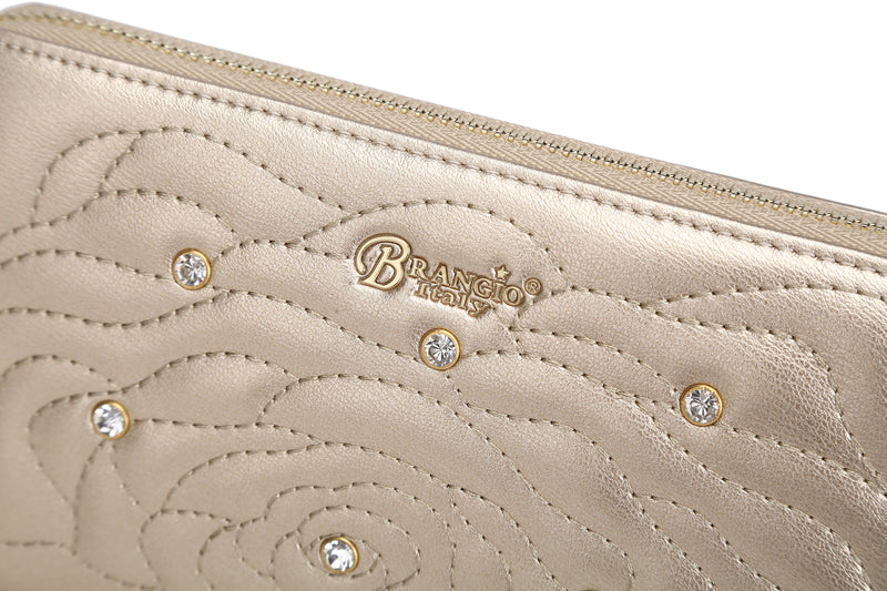 Rosette 3D Crystal Wristlet Wallet - Brangio Italy Collections