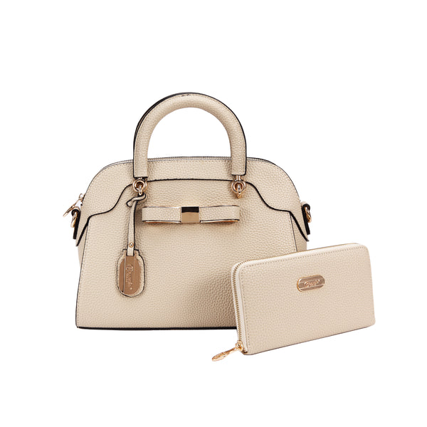 Desert Bow Matching Handbag + Matching Wallet Set - Brangio Italy Collections