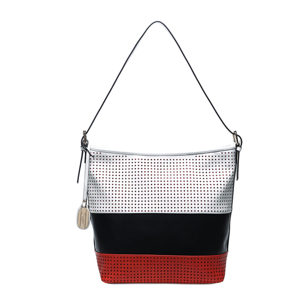 Striped Circles Soft Minimalist Soft Tote Bag - Brangio Italy Co.