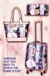 Blossomz 3PC Set | Tote + Travel Carry On Bags for Women - Brangio Italy Collections