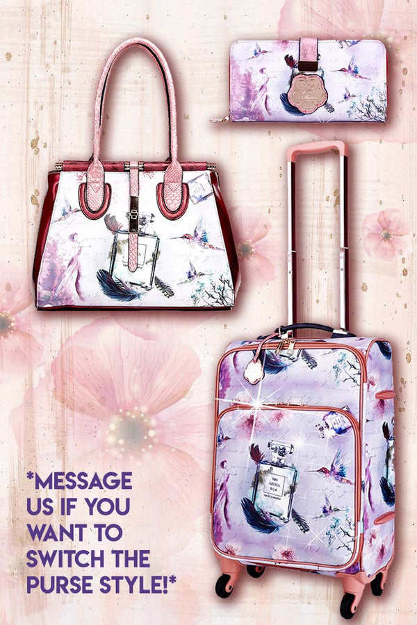 Arosa Fragrance 3PC Set | Vintage Travel Carry on with Spinner Wheels - Brangio Italy Collections