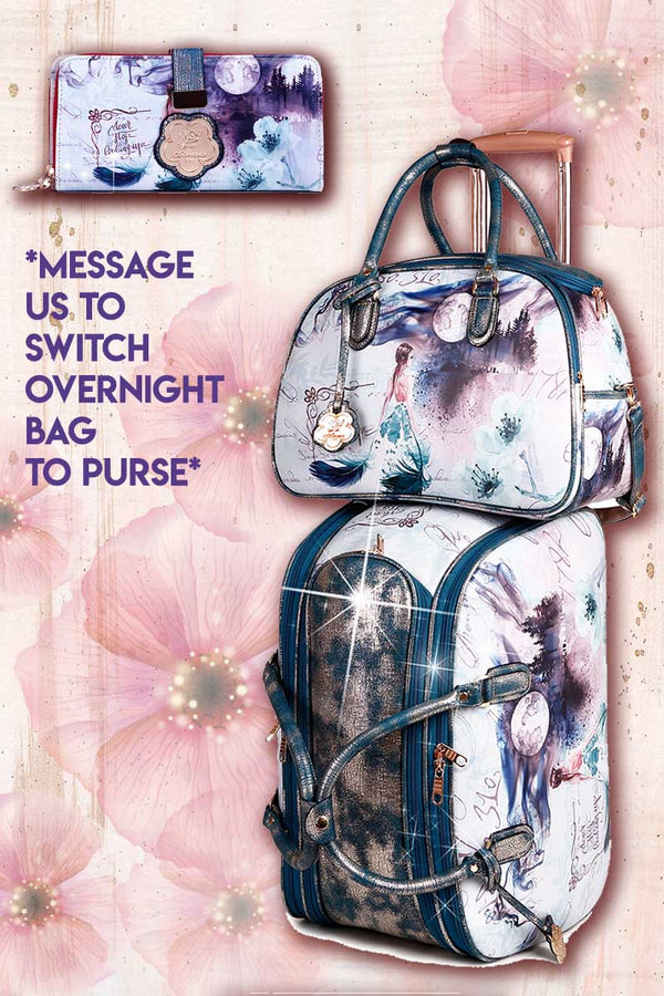 Fairytale 3PC Set | Duffel + Overnight Bags for Women - Brangio Italy Collections