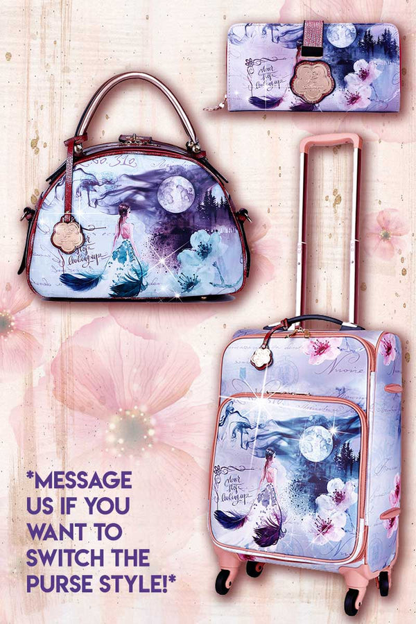 Fairytale 3PC Set | Carry on Bag with Spinner Wheels - Brangio Italy Collections