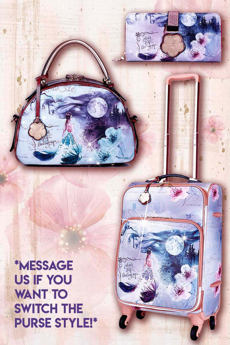 Fairytale 3PC Set | Carry on Bag with Spinner Wheels - Brangio Italy Co.