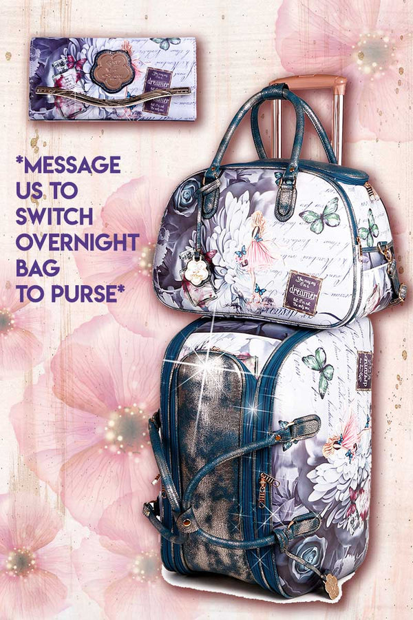 Dreamerz 3PC Set | Vintage Matching Duffel Set with Clutch Purse - Brangio Italy Co.