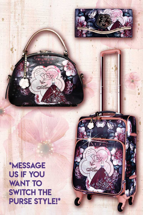 Queen Arosa 3PC Set | Tote Bag Luggage Set with Crossbody Bag - Brangio Italy Co.