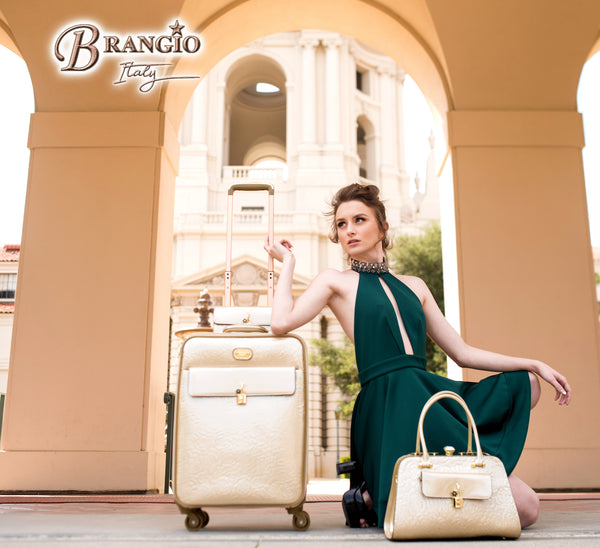 Rosy Lox Luggage For Women Rolling Suitcase Travel Bag - Brangio Italy Co.