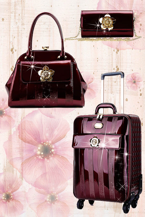 Floral Accent 3PC Set | Travel Bag Deal for Women Signature Set - Brangio Italy Co.