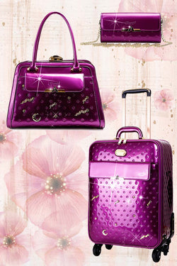 Meteor Sky 3PC Set | Carry-On Travel Luggage + Bag - Brangio Italy Collections