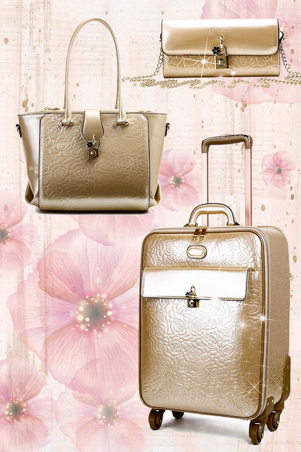 Rosy Lox 1.0 3PC Set | Luggage For Women Rolling Suitcase Travel Bag - Brangio Italy Collections