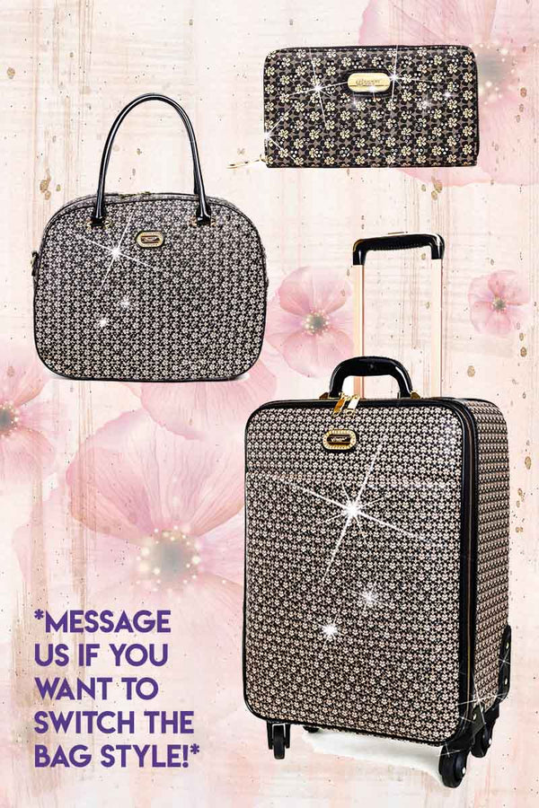 Galaxy Stars 3PC Set | Leather Bags Luggage Set on Clearance - Brangio Italy Co.