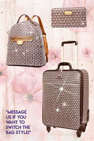 Galaxy Stars 3PC Set | Luxury Crystal Backpack & Luggage