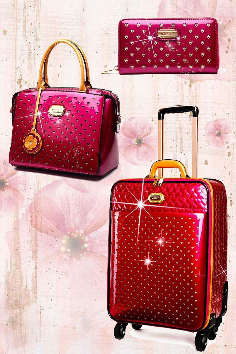Starz Art Retro 3PC Set | Light Weight Spinner Luggage - Brangio Italy Collections