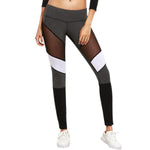 Mesh-Insert Yoga Leggings