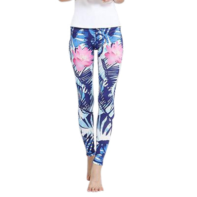 Point Floral Yoga Leggings