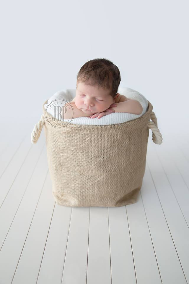 Burlap Sack with Rope Handles LAST ONE LEFT