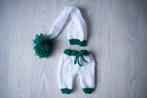 Christmas Outfit White & Green