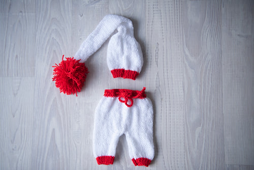 Christmas Outfit White & Red