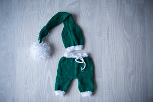 Christmas Outfit Green & White