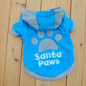 Santa Paw Fleece Hoodie Sweatshirt  XS-L (3 colors) - Go Pugs