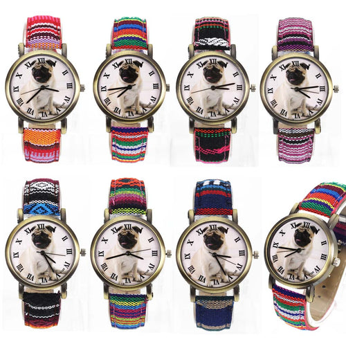 Multicolor Denim Belt Quartz Wrist Watch (7 colors) - Go Pugs