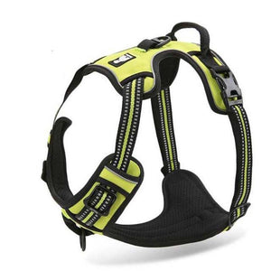 Nylon Large Pet Dog Harness All Weather (Yellow) - Go Pugs