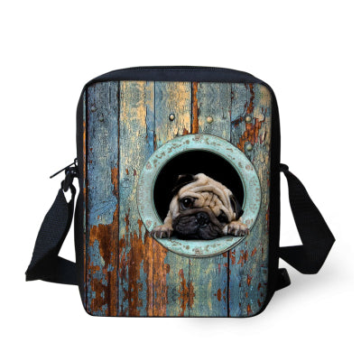 Pug in Bag Messenger Bag/Shoulder Bag - Go Pugs
