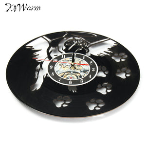 Flying Pug Vinyl Record Hanging Clock - Go Pugs