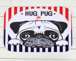 Small Nonslip Pug  Floor Mat (3 selections).  Great addition to any room - Go Pugs