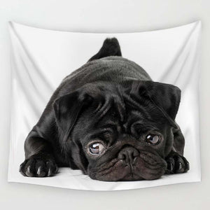 Pug Print Wall Hanging Tapestry - Go Pugs