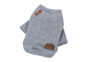 Solid color Dog Sweater With Side Buttons - Go Pugs